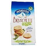 Monviso Bruschette Snack Rosmarino - Pacco da 8 x 50 g