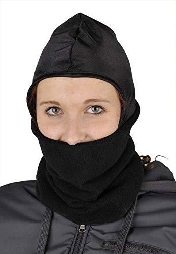 HKM Kopf/Gesichtswärmer aus Fleece, schwarz, Universalgröße