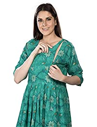 82c12246076f9 EasyFeed Designer and Stylish Rayon Cotton Printed Maternity and Easy  Feeding/Breastfeeding/Kurti/