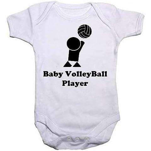 Un Unisex Baby crescere con il testo–Giocatore di Pallavolo, con immagine di un ragazzo o ragazza giocare a pallavolo dal nostro abbigliamento bambini gamma. Un unico compleanno, battesimo o idea regalo per neonato body, Tuta