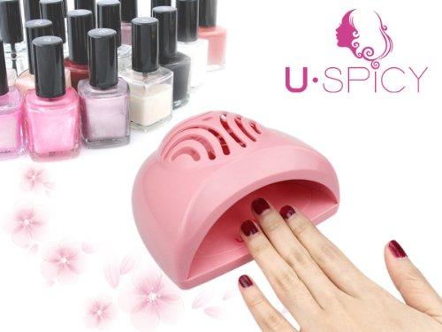 USpicy® - SEASHELL Mini séchoir à ongle (AA Batteries utilisé)pour la maquillage des ongles, Rose