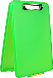 Dexas Slimcase Storage Clipboard, Lime