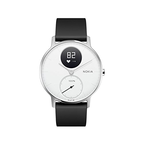 Withings Unisex Adult Steel HR-Fitnessuhr Armbanduhr, White, 36mm, 36 mm