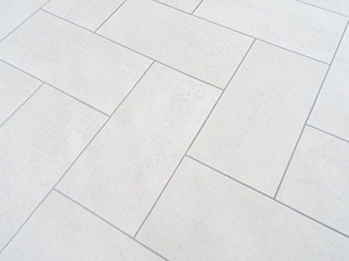 PVC in Parkettdielen-Optik, weiß - von Alpha-Tex 9.95€/m² (Länge: 200 cm, Breite: 400cm)