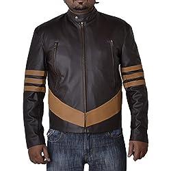 Chanclo de sintética de Lobezno de diseño con chaqueta de cuero con diseño de estampado de sudadera con capucha incluye marco protector de diseño de chica Steam Punk