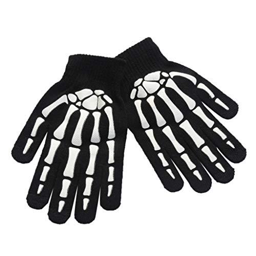 Fahrrad Full Finger Handschuhe Schädel Skelettkralle Design Rutschfest aus Gummi im Freien, B #, 7.87
