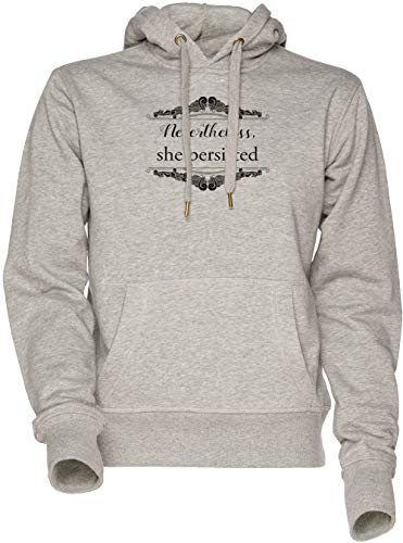 She Persisted (ACLU Benefit) Unisex Herren Damen Kapuzenpullover Sweatshirt Grau Men's Women's Hoodie Grey