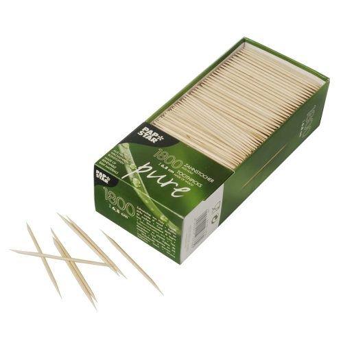 Zahnstocher, Holz pure rund 6,8 cm, 1800 Stück