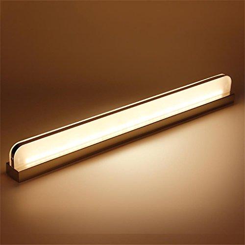 Ali@Lampes pour miroir Led miroir lumière avant imperméable Foggy toilette miroir avant simple simple salle de bain dressing table miroir lampe frontale lampe de mur ( Couleur : Blanc chaud , taille : 72cm )