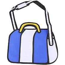 Sairis Fashion 3D Jump Style 2D Dibujo del bolso de bandolera con diseño de dibujos animados