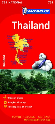 Thailand NATIONAL Map (Michelin National Map)