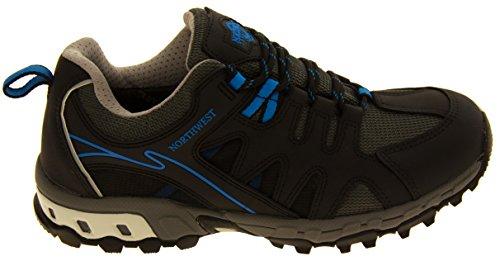 Uomo NORTHWEST TERRITORY in pelle scarpe da trekking impermeabili Blue
