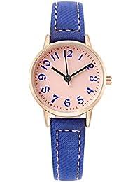 Los niños Relojes, tiempo maestro las niñas reloj resistente al agua Cartoon cuarzo analógico reloj de pulsera azul Cute estudiante reloj, Deep Blue