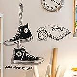 Creative chaussures toile chaussures vêtements magasin décoration boutique noir papier peint mur autocollant60X90