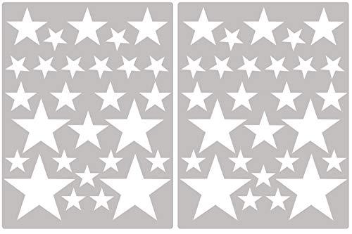 Carta Da Parati Su Muro Ruvido.Premyo Set 54 Stelle Sticker Da Muro Adesivi Murali Bambini Decorazioni A Parete Cameretta Facile Da Applicare Adatta Carta Da Parati Ruvida Bianco