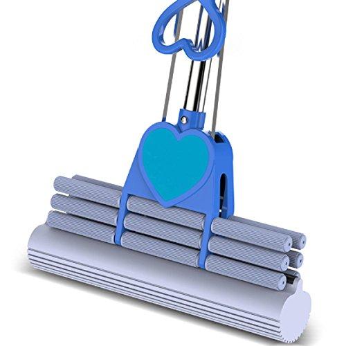 GAOJIAN Roller Typ Squeeze Wasser Schwamm Mop Edelstahl Stange Gummi kann Stretch Baumwolle absorbierende Mop 38Cm Mops Boden Reinigung