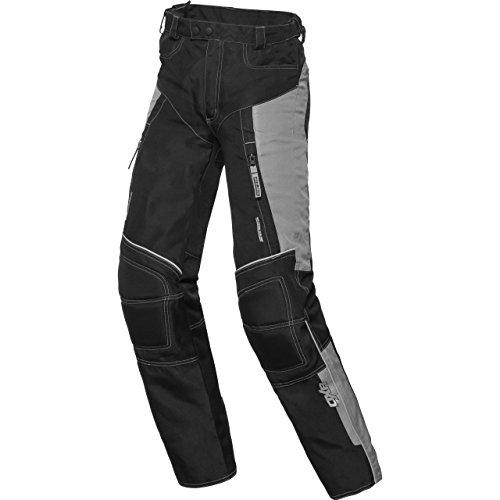 DXR Motorradhose, Motorradschutzhose Kinder Sommer Textilhose, Verbindungsreißverschluss, 2 Einschub-, 2 Gesäßtaschen, Taschen für Knie- und Hüftprotektoren, Protektoren nachrüstbar, Grau, 146-152