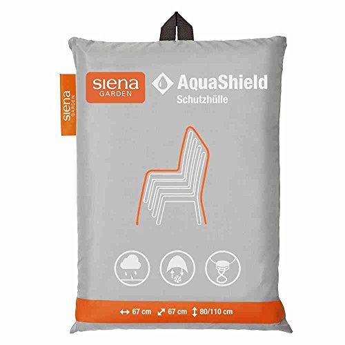 Siena Garden AquaShield Stapelstuhlschutzhülle, silber-grau, mit Active Air System, 67x67x8cm
