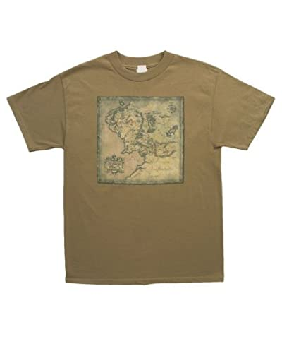 Middle Earth Map -- The Lord Of The Rings Adult T-Shirt, X-Large