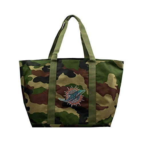 nfl-miami-dolphins-camo-tote-24-x-105-x-14-inch-olive-by-littlearth