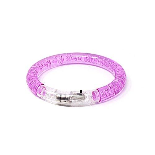 50 Lila LED-Blasen-Armband-Glühen Belichtete Pulsierende Bunte Leuchten Party-Schlag-blinkendes Armband-Armband das Für Tänze Wiederverwendbar Ist Ereignis-Partys Raves Kids Adult Oder Dark Safety