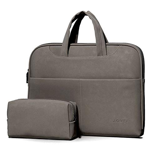 LXIANGP Damen Tragbare Laptop-Tasche Schulter Schräg Tasche Große Kapazität Multifunktionale Mode PU-Leder Aktentasche Wasserdicht und Stoßfest Leichtes Praktisches 13.3
