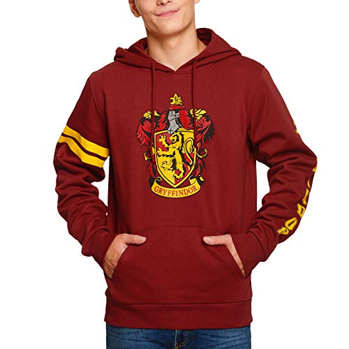 Harry Potter Hoodie Gryffindor Wappen mit Kapuze Elbenwald rot - M