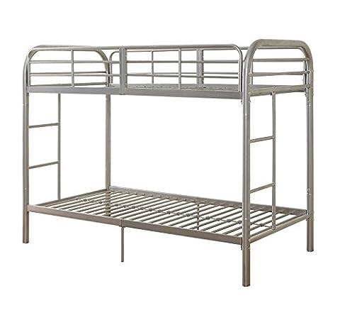 ACME Thomas Twin/Twin Bunk Bed, Silver (Bunk Rails)