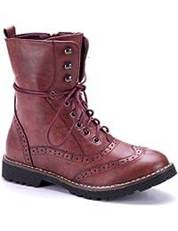 d866cd67311564 Schuhtempel24 Damen Schuhe Klassische Stiefeletten Stiefel Boots  Blockabsatz 3 cm