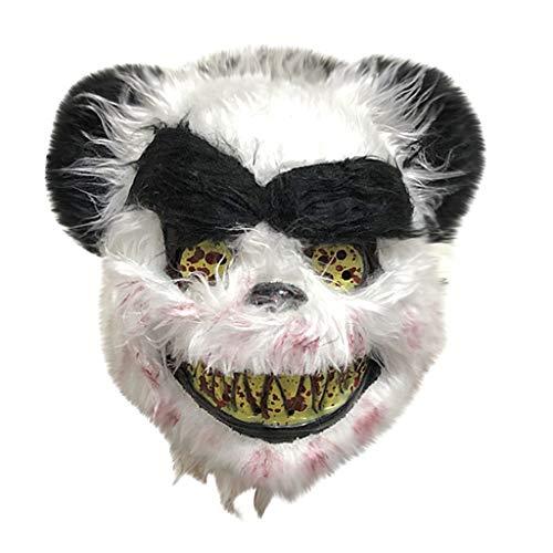 Huacat Halloween Maske Panda Wolf Bär Plüschhaube Cosplay Scary Wolf Maske Kostüm Für Erwachsene Party Dekoration Requisiten