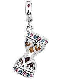 """T400joyeros con colores de plata de ley 925""""reloj de arena"""" colgantes Europea pulseras compatible"""