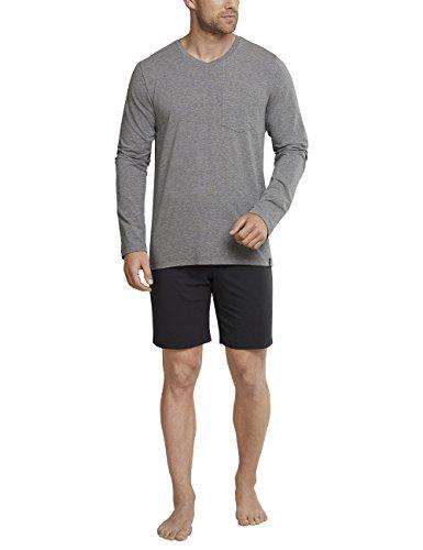 ug kurz Zweiteiliger Schlafanzug, Grau (Dunkelgrau-Mel. 213), Medium (Herstellergröße: 050) ()