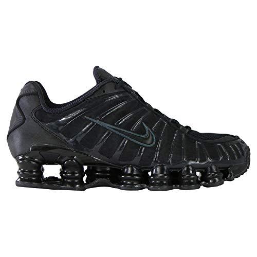 Nike Herren Shox Tl Leichtathletikschuhe, Mehrfarbig (Black/Black/MTLC Hematite/Max Orange 000), 42 EU