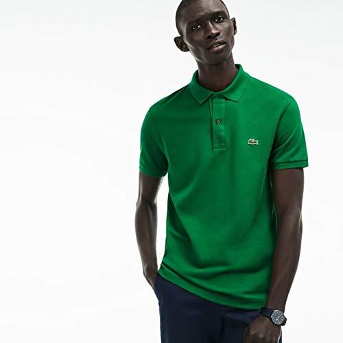 Lacoste PH4012 Herren Poloshirt L1212 in Slim Fit, Polohemd, Polo-Shirt, Polo, Kurzarm aus 100% Baumwolle Grün (Rocket CNQ), EU 7 -