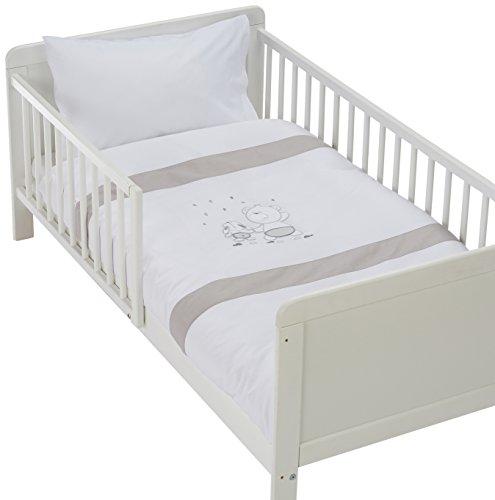 Easy Baby 810-46 Parure de lit avec broderie de qualité motif Friends, 100/135 + 40/60, Grey