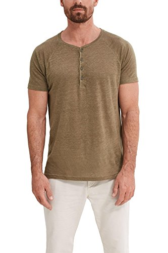 ESPRIT Collection Herren T-Shirt Grün (Dark Khaki 355)