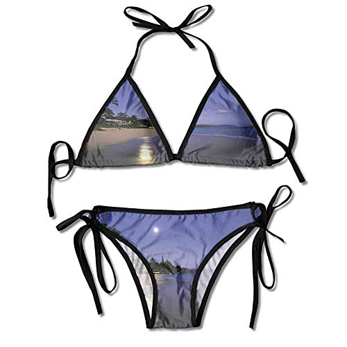 Custom Pattern 2 Pieces Swimsuit Deep V Neck Runched Tummy Contral for Women