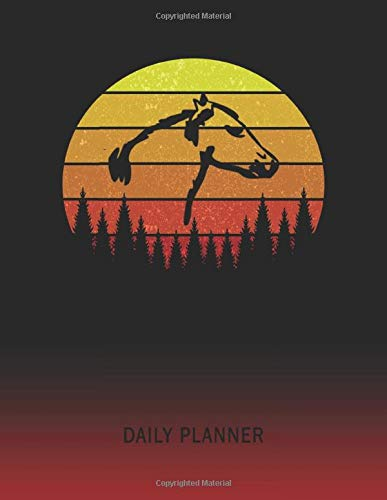 Daily Planner: Molumen Horse Head | 2020 - 2021 Daily Planner For 1 Year Of Planning | Retro Vintage Sunset Cover | January 20 - December 20 | ... | Plan Days, Set Goals & Get Stuff Done -
