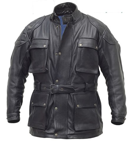 Pure Giacca da Moto in Pelle - Tiger-, Steerhide Black