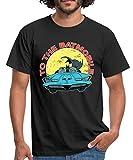 Photo de Spreadshirt DC Comics Batman Robin Batmobile Look Usé T-Shirt Homme par Spreadshirt