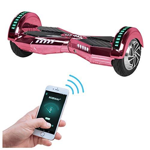 Robway W2 Hoverboard - Das Original - Samsung Marken Akku - Self Balance - Bluetooth - 2 x 350 Watt Motoren - 8 Zoll Räder (Pink Chrom)
