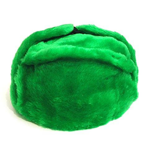 Mütze mit Ohrenklappen, grün ohne eine Kokarde, UdSSR (Größe 60)