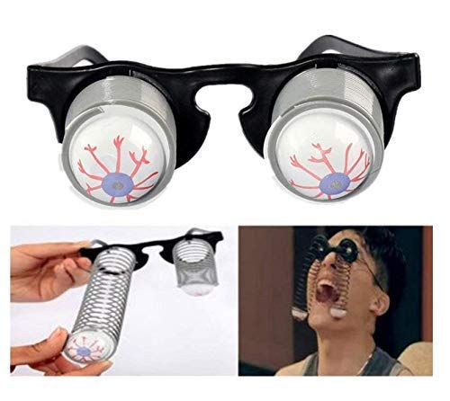 Gwill Halloween Kostüm Party Witz Spielzeug Scary Horror Slinky Pop Out Eye Gag Droopy Augen Brille 3 Pack (Scary Halloween Pop-out)