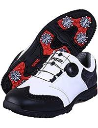 FUBULE Zapatos de Golf Agujas Menos Zapatos Botones de rotación Antideslizantes a Prueba de Agua Resistencia a la abrasión Multifuncional al Aire Libre