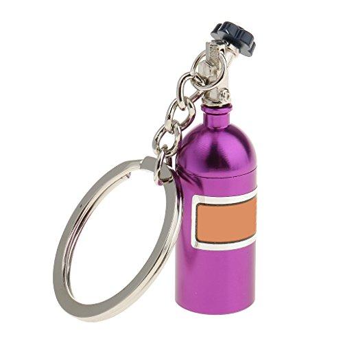 MagiDeal Kreativer Metallauto Schlüsselring Keychain Ring Schlüsselanhänger - Lila (Gas-zylinder Kette)