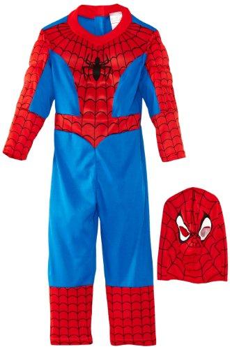 Original Lizenz Spidermankostüm Kostüm Spiderman Premium Held Spinnenmann Superhelden Spinne Peter Parker Netz Spinnennetz Superheld Gr. S, M, L, Größe:S (Spiderman Original Kostüme)