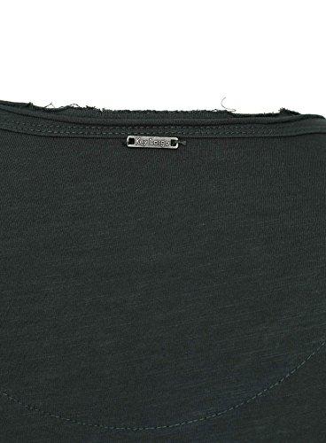 Key Largo Herren Longsleeve AQUA Einfarbig mit Brusttasche Langarm V-Ausschnitt Dunkelgrün