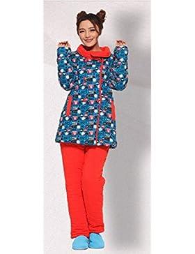 Personalizzati casuali giacca ispessimento pigiama di cotone autunno e in inverno pigiama incappucciati spessi...