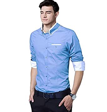 IndoPrimo Men's Slim Fit Casual Shirt