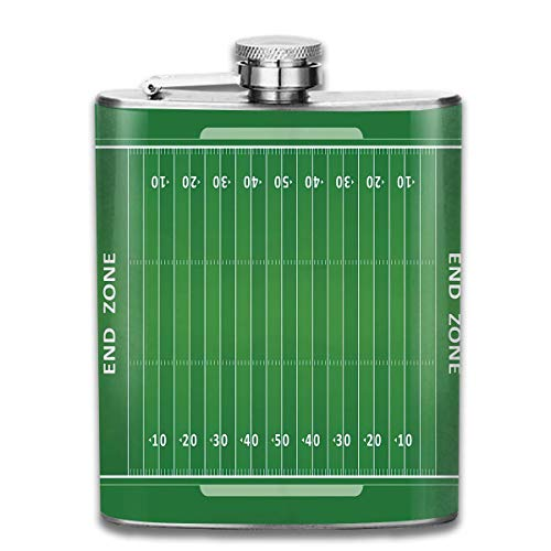 flasks for women High Quality Stainless Steel Flasks 7 Oz Field Of The Game Strategy Tactics End Zone Touchdown Sports Competition Theme Whiskey Flask Hip Flask Leak Proof Wine Men Women -